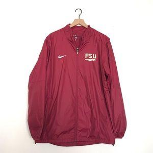 Nike FSU Windbreaker jacket size Large